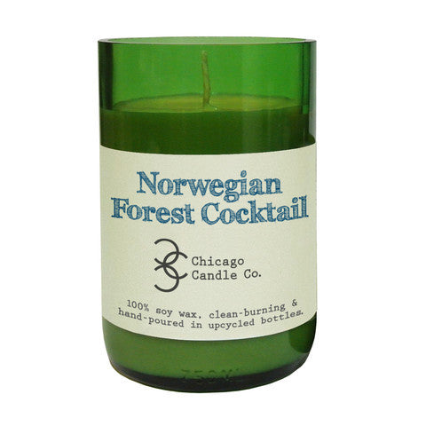 Norwegian Forest Cocktail Recycled Wine Bottle Soy Candle 11oz - Decor - George & Augie