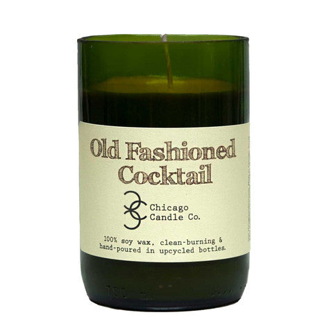 Old Fashioned Cocktail Recycled Wine Bottle Soy Candle 11oz - Decor - George & Augie