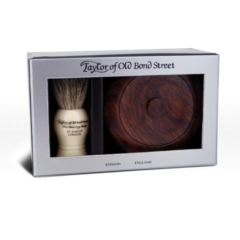 Taylor of Old Bond Street Gift Set with Wooden Bowl