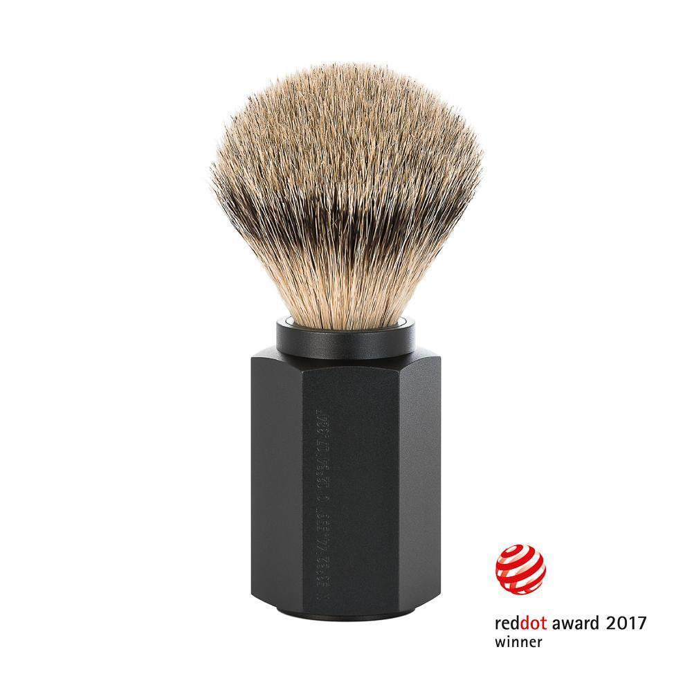 Mühle HEXAGON Graphite Silvertip Badger Shaving Brush
