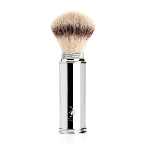 Muhle Synthetic Travel Shaving Brush 31M20- Chrome