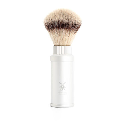 Muhle Synthetic Travel Shaving Brush - Silver 31M530