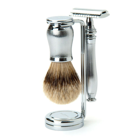 Edwin Jagger Chatsworth Barley DE 3-Piece Shaving Set 3PCCBASRST