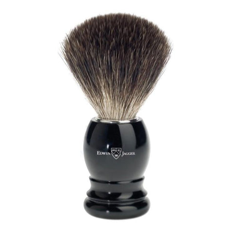 Edwin Jagger Pure Badger Black Shaving Brush 81P26