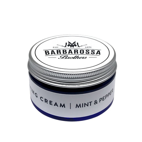Mint & Pepper Shaving Cream by Barbarossa Brothers