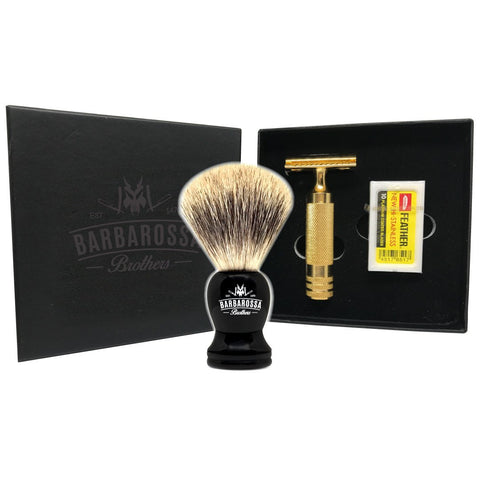 'The Ottoman' Shaving Set in Matt Black, Chrome or 24kt Gold
