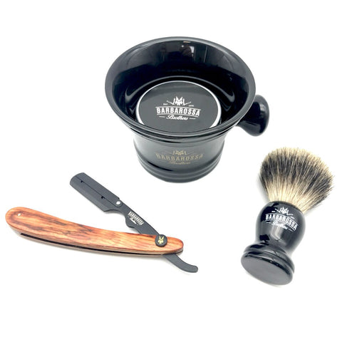 The Buccaneer Barber Razor Set by Barbarossa Brothers