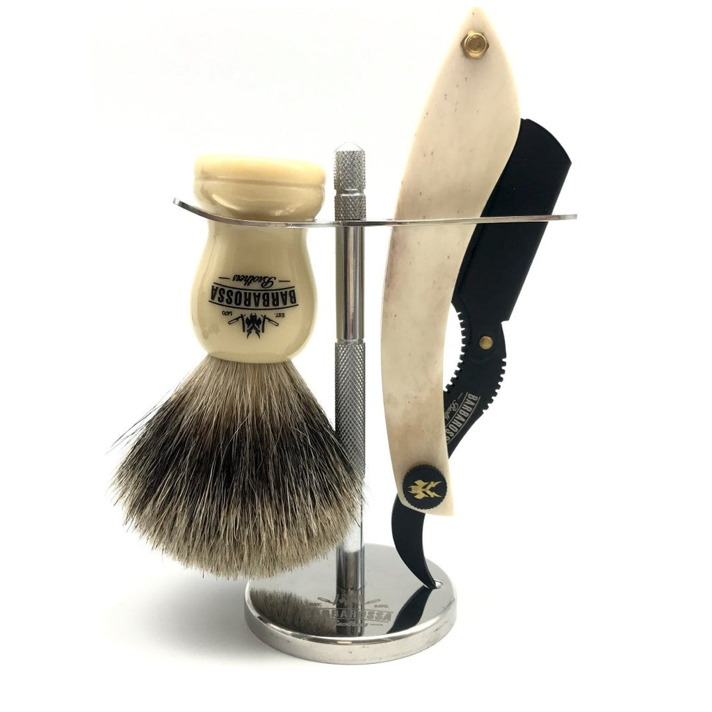 The Cutlass Barber Razor Set with Stand
