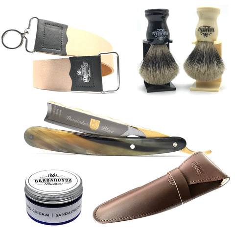 "Dovo 5/8"" Bergisher Löwe Cut Throat Razor Set & Accessories"