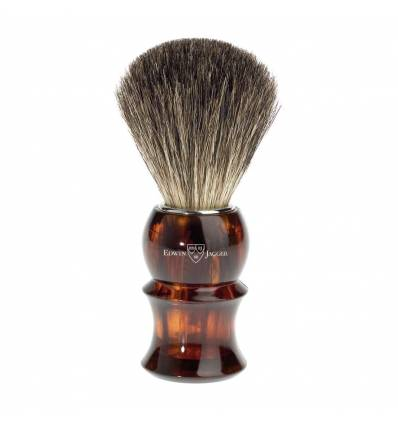 Edwin Jagger 81P13 Imitation Tortoiseshell Shaving Brush (Pure Badger)