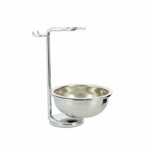 Edwin Jagger Chrome Plated Razor, Brush and Bowl Stand RHM8CRB