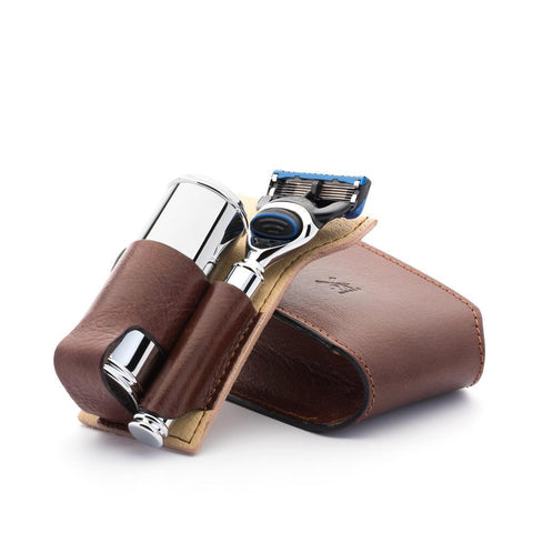 MÜHLE Florentine Leather Travel Shaving Set