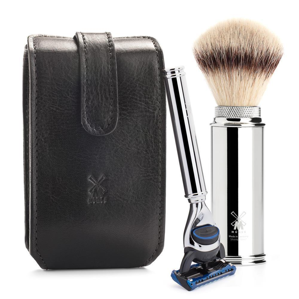 Mühle Florentine Leather Travel Shaving Set RT2F