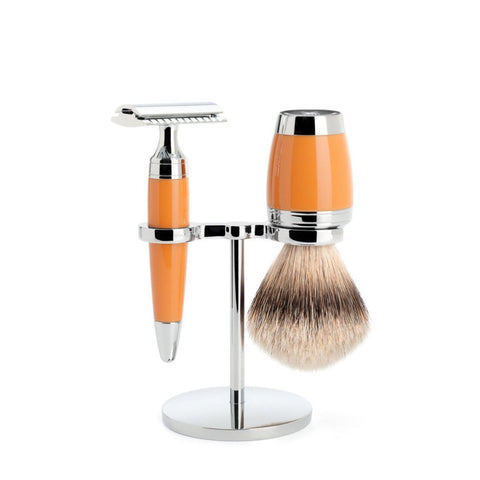 MÜHLE 'STYLO' 3-Piece Silvertip Badger Butterscotch Shaving Set S091K74SR