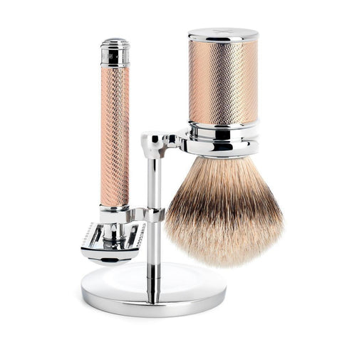 MÜHLE Traditional 3-Piece Shaving Set in Rose Gold (Open Comb)