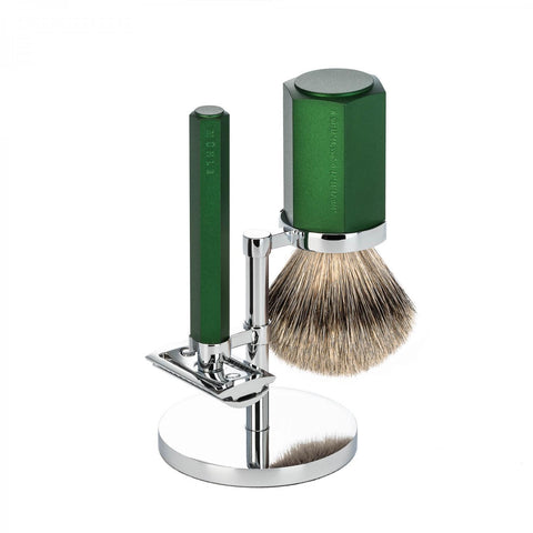 MÜHLE HEXAGON 3-Piece Shaving Set in Forest