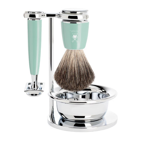 Muhle Rytmo 4pc Mint Resin DE Shaving Set