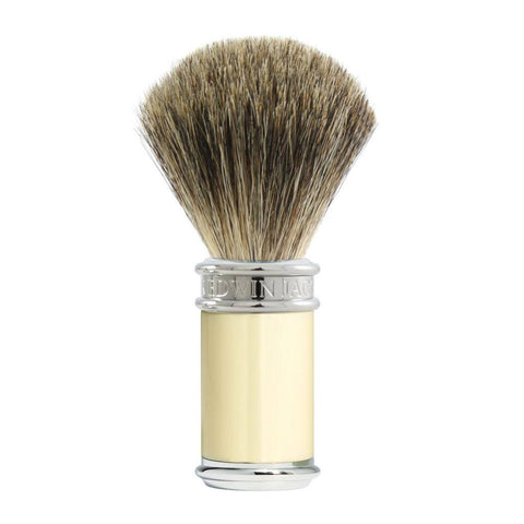 Badger Brush - Edwin Jagger Ivory DE87 Pure Badger Shaving Brush (81SB8711)