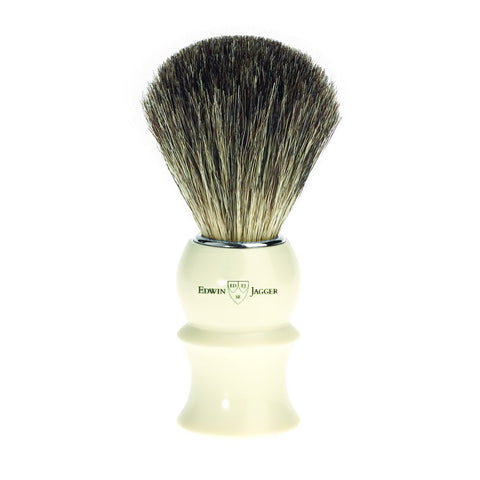Badger Brush - Edwin Jagger Pure Badger Ivory Shaving Brush