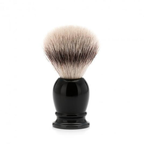 Badger Brush - MÜHLE Classic 'Silvertip' Fibre Black Small Shaving Brush 39K256