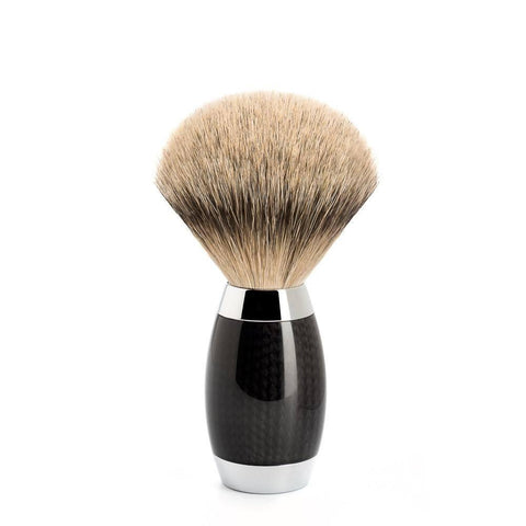 Badger Brush - Mühle Edition No.1 Carbon Fibre Silvertip Shaving Brush 493ED1