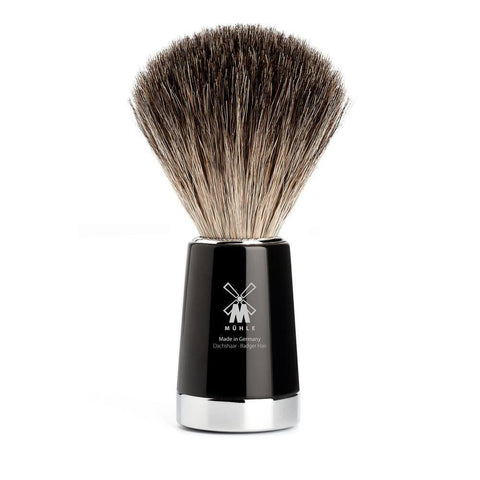 Badger Brush - MÜHLE Liscio Pure Badger Black Shaving Brush
