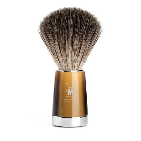 Badger Brush - MÜHLE Liscio Pure Badger Brown Horn Shaving Brush