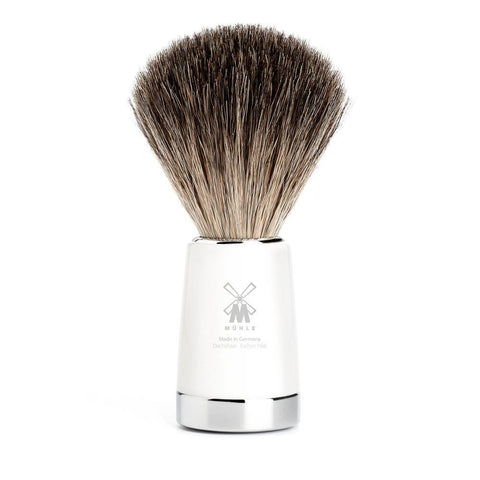 Badger Brush - MÜHLE Liscio Pure Badger White Shaving Brush