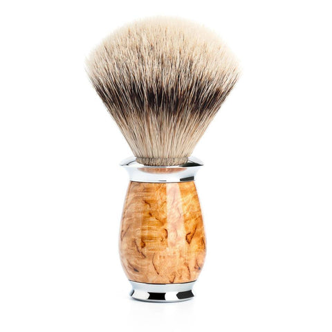 Badger Brush - Mühle Purist Silvertip Shaving Brush With Karelian Masur Birch 091H55