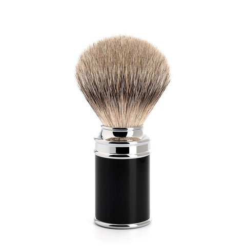 Badger Brush - MÜHLE Silvertip Badger Black & Chrome Shaving Brush