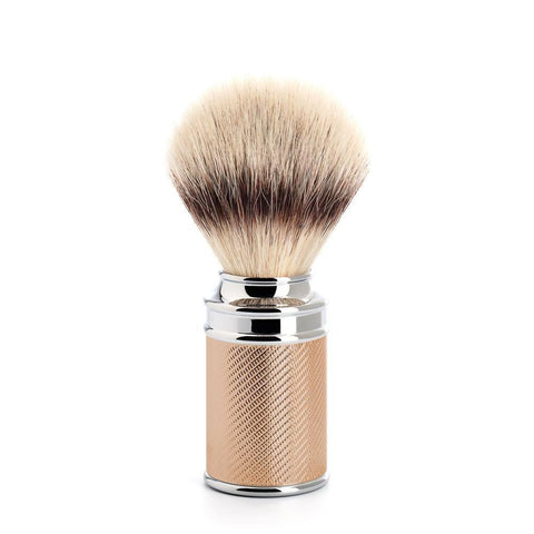 Badger Brush - MÜHLE Traditional 'Silvertip' Fibre Rosegold Shaving Brush 31M89RG