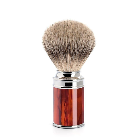 Badger Brush - MÜHLE Traditional 'Silvertip' Fibre Tortoiseshell Shaving Brush 31M108