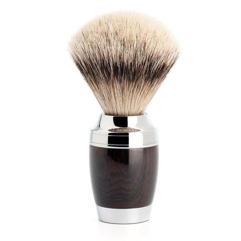 Muhle STYLO, Grenadille Silvertip Badger Shaving Brush
