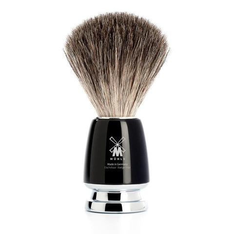 Muhle Rytmo Black Pure Badger Shaving Brush 81M226