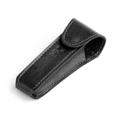 Muhle Black Leather Safety Razor Travel Cases RT6