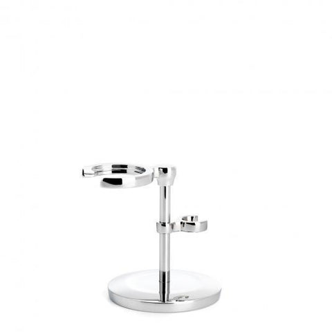 Muhle Chrome Shaving Brush and Razor Stand RHMSRSET
