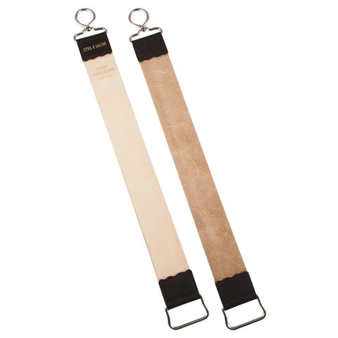 Leather Strop - Cyril R. Salter Small Leather And Canvas Hanging Strop With Hook