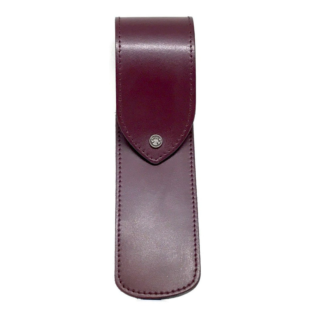 Razor Case - Dovo Burgundy Leather Razor Case