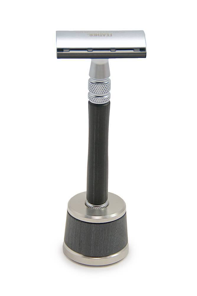 Feather Ws D1s Wood Handle Stainless Safety Razor Amp Stand