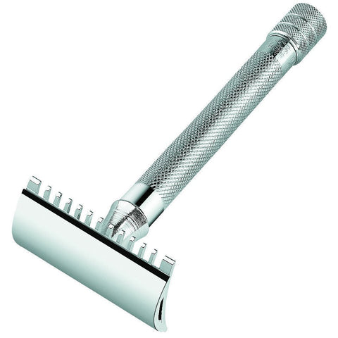 Razor - Merkur Long Handled Open Comb Double Edge Safety Razor