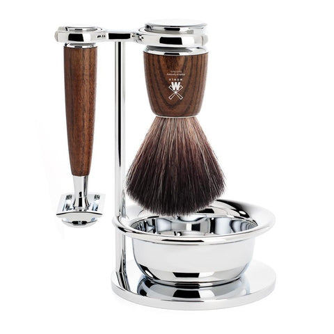 Muhle Rytmo 4pc Steamed Ash DE Shaving Set