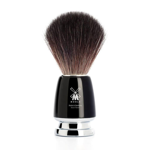 Shaving Brush - Mühle Rytmo Black Fibre Black Resin Shaving Brush 21M226