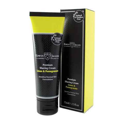 Shaving Cream - Edwin Jagger Premium Shaving Cream Limes & Pomegranate 100ml