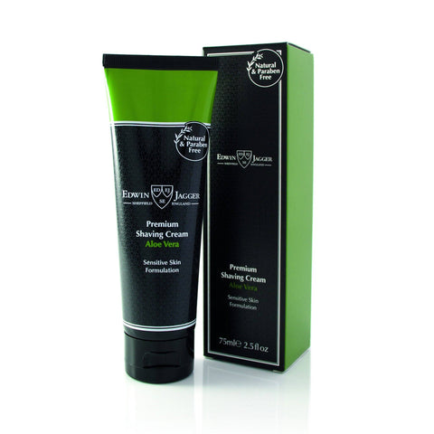 Shaving Cream - Edwin Jagger Premium Shaving Cream With Aloe Vera 75ml