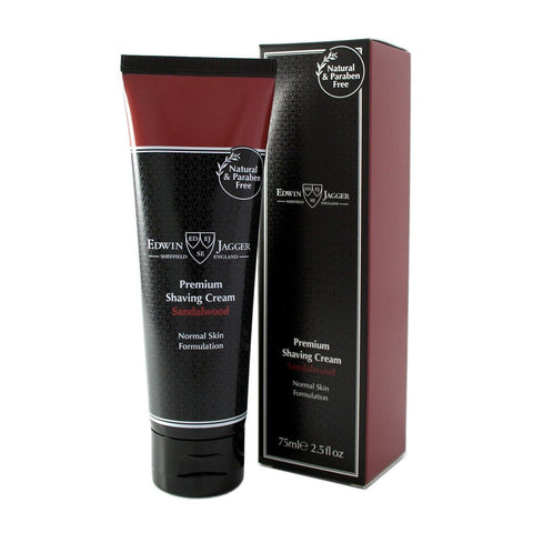 Shaving Cream - Edwin Jagger Premium Shaving Cream With Sandalwood 75ml