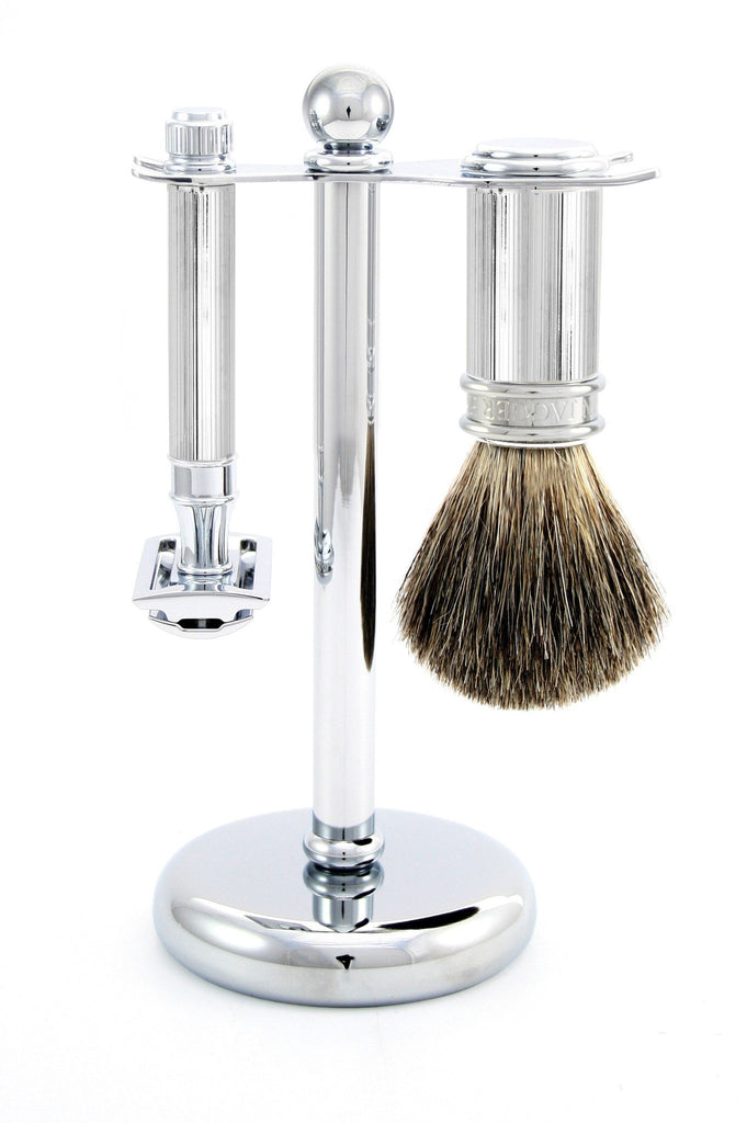 Shaving Set - Edwin Jagger 3 Piece Chrome Lined Shaving Set With DE89 Lined Safety Razor (S81M89L11)