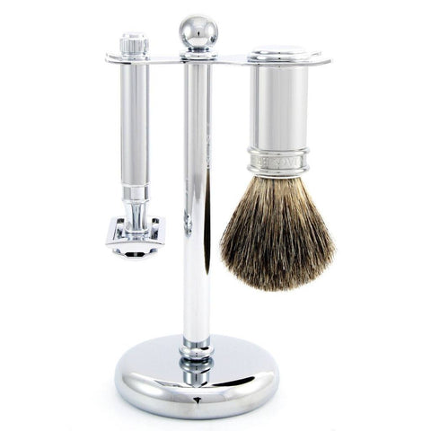 Shaving Set - Edwin Jagger 3 Piece Chrome Shaving Set With DE89 Safety Razor (S81M8911)