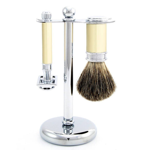 Shaving Set - Edwin Jagger 3 Piece Ivory Shaving Set With DE87 Safety Razor (S81M8711)
