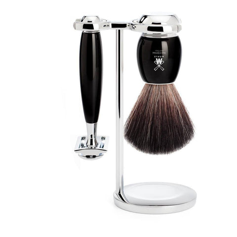 Shaving Set - MÜHLE Vivo Black And Chrome 3 Piece Shaving Set S21M336SR