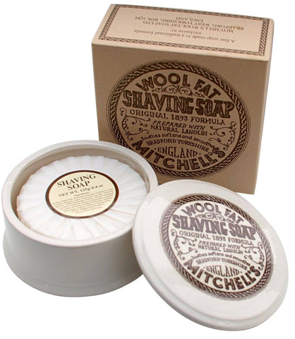 Shaving Soap - Mitchell's Original Wool Fat Shaving Soap In Ceramic Bowl